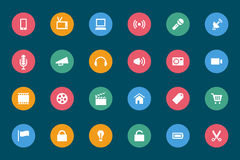 Web and Mobile Vector Icons 1 Royalty Free Stock Photography