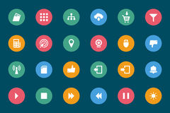 Web and Mobile Vector Icons 4 Royalty Free Stock Photography