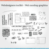 Web mockup graphics. A collection of mixed mockup graphics Stock Photo
