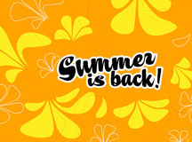Summer is back Royalty Free Stock Images