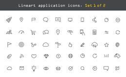 Web moderne et pictogrammes mobiles d'application Images stock
