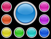 Web moderno buttons-3 Immagini Stock