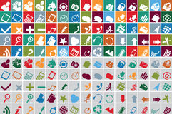 Web multicolor icons Royalty Free Stock Image