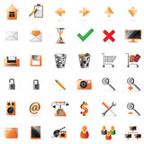 Web and multimedia icons. 36 icons set for intenet and multimedia Royalty Free Stock Photo