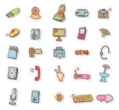 Web multimedia icons set - vector illustration Royalty Free Stock Image