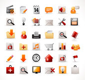 Web and mutimedia icons Stock Image