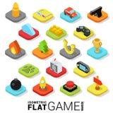 Web na moda isométrica lisa app móvel do jogo do jogo do vetor 3d ilustração royalty free