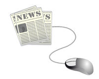 Web-Nachrichten Stockbild
