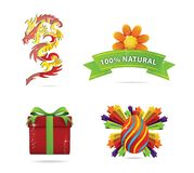 Web and nature elegance symbols set Stock Photography