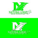 Natural logo back to nature stock illustration