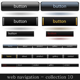 Web navigation. Collection of web buttons with website navigation Royalty Free Stock Photo