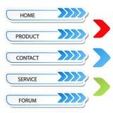 Web navigation with arrow - menu template Stock Photos