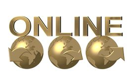 Web Navigation Golden Globes Stock Photography