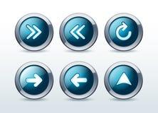 Web navigation icons set  illustration Royalty Free Stock Images