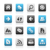Web Navigation // Matte Icons Series Royalty Free Stock Images