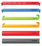 Web navigation menu Stock Images