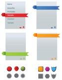 Web navigation menu Stock Photography