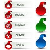 Web navigation - menu template Stock Images