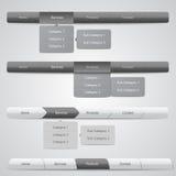 Web Navigation Menus Stock Photography