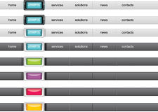 Web navigation panel Royalty Free Stock Image