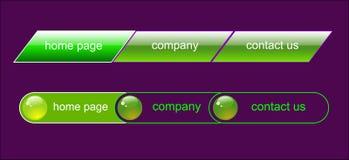 Web navigation set Stock Image