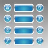 Web navigation set vector illustration