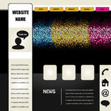 Web navigation template. Illustration - see also my portfolio Stock Images