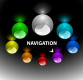 Web navigation template 3 (on top). Web navigation template with colorful buttons 3 (variant on top Stock Images