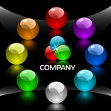 Web navigation template. With colorful buttons 1 Royalty Free Stock Image