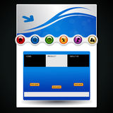Web navigation template - EPS 10. Illustration - see also my portfolio Royalty Free Stock Image