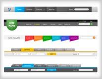 Web navigation templates Stock Image