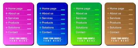 Web navigation templates. On the white background Royalty Free Stock Image