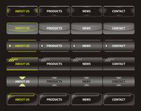 Web navigation templates Royalty Free Stock Images
