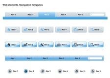 Web Navigation Templates Royalty Free Stock Photo