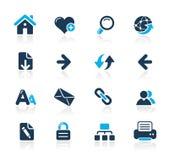 Web-Navigations-//-Azurblau-Serie