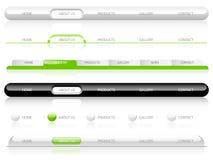 Web-Navigations-Schablonen Stockfotos