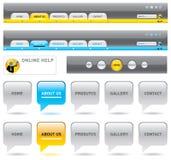 Web-Navigationsschablonen. Lizenzfreie Stockbilder