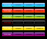 Web-Navigationsset Lizenzfreie Stockbilder