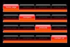 Web-Navigationsset Lizenzfreies Stockfoto