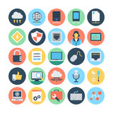 Web and Networking Vector Illustrations 3 Stock Images