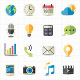 Web and notification icons. This image is a  illustration Stock Photos