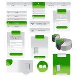 Web-Nutzer-Schnittstellenelement Vektor Lizenzfreies Stockbild
