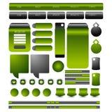 Web-Nutzer-Schnittstellenelement Vektor Stockfoto