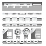 Web-Nutzer-Schnittstellenelement Vektor Lizenzfreie Stockbilder