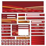 Web objects red and gold Stock Photos