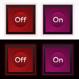 Web on and off buttons - vector Stock Images
