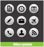 Web office circle pictogram symbols Royalty Free Stock Image