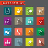 Web and office flat icons Stock Images
