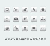Web and office icons Stock Images