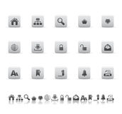 Web and office icons Stock Image